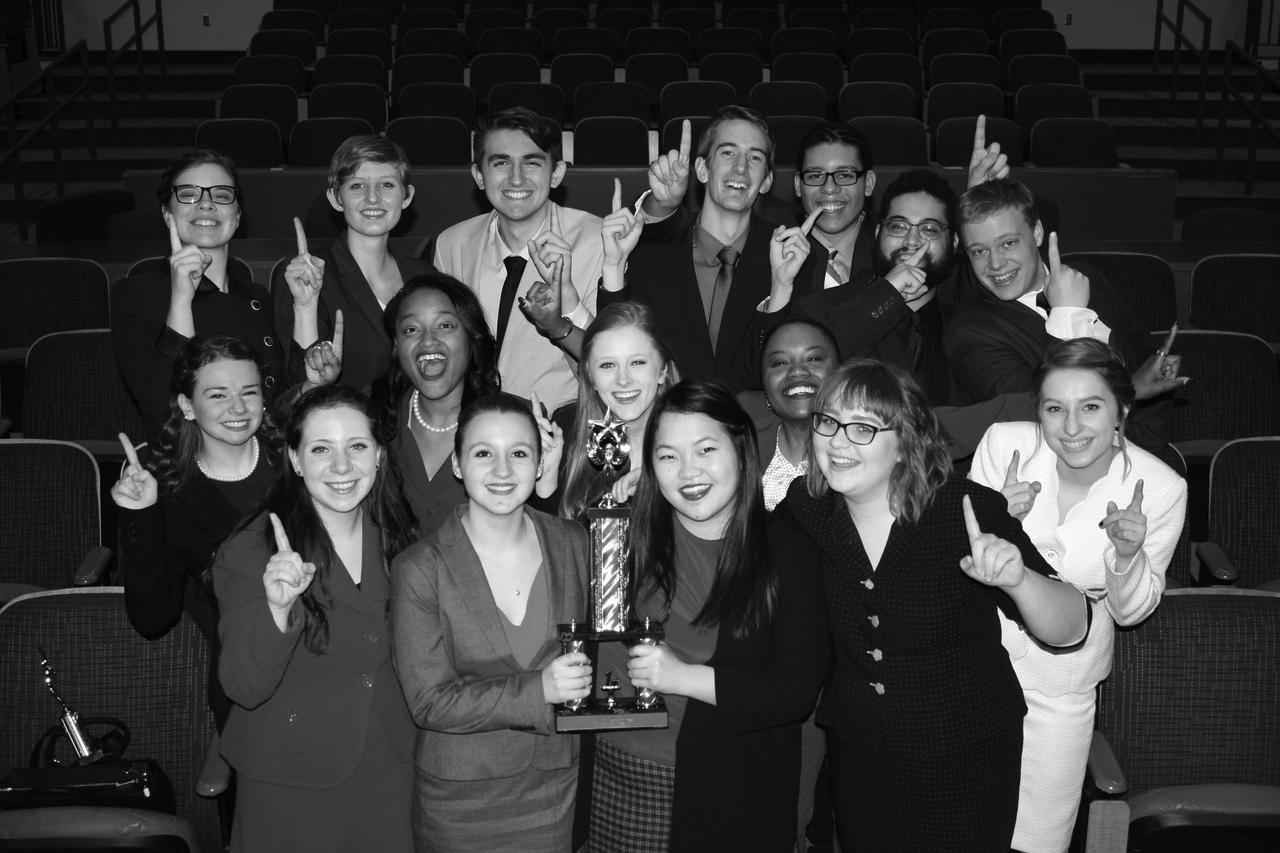 The UW-Whitewater Forensics Team celebrates their first-ever state title at the WFCA tournament on Feb 17-18. The group has dealt with many forces but owes their win to the program development and evolving.