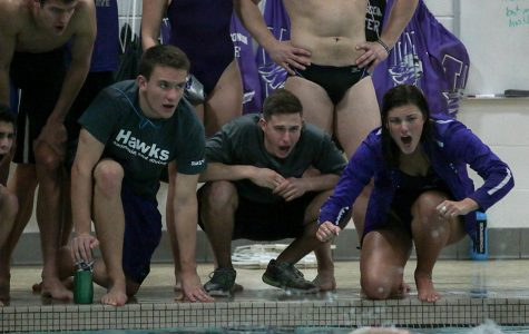 'Hawks swim to top on senior night
