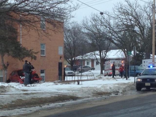 Automobile accident on the corner of Starin and Tratt