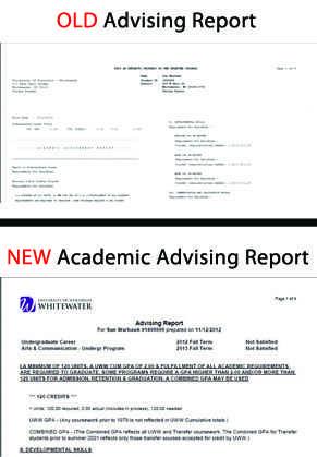 Advising Report gets update