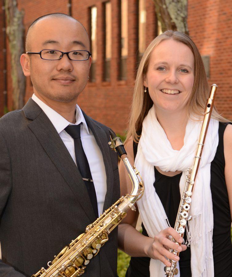 Mas Sugihara and Jennifer Brimson Cooper of the Aea Duo