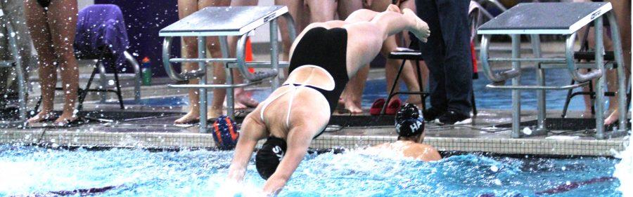 Men's and Women's Swim & Dive: 'Hawks take third in pool