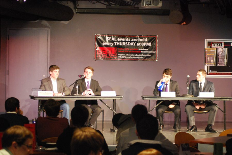 Student government candidates engage in debate