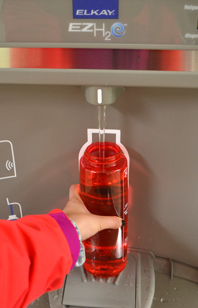 Bottle fill stations keep students cool, green