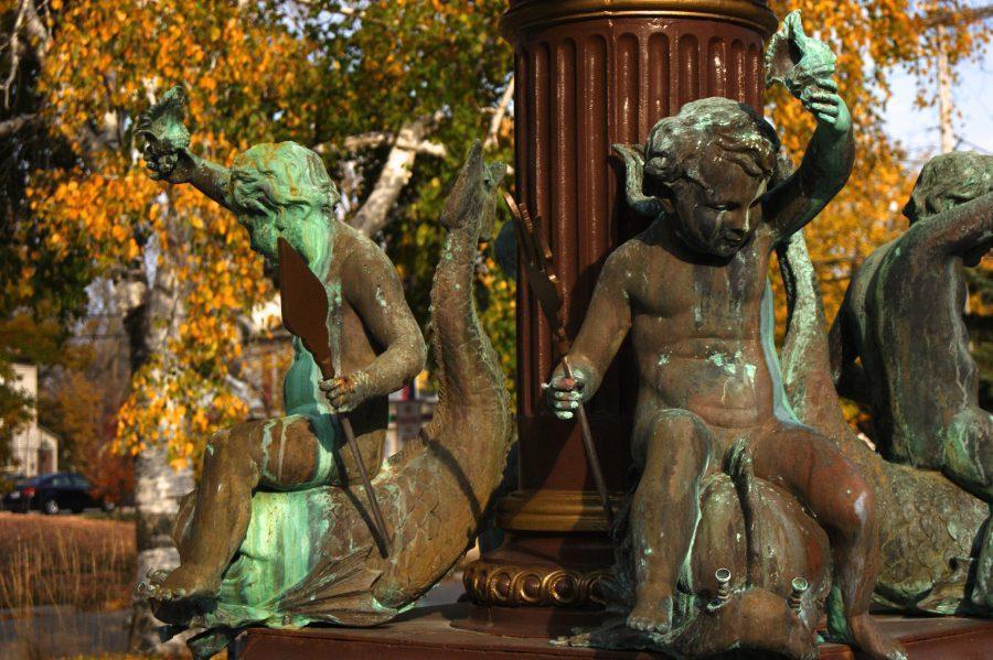 Birge Fountain close up