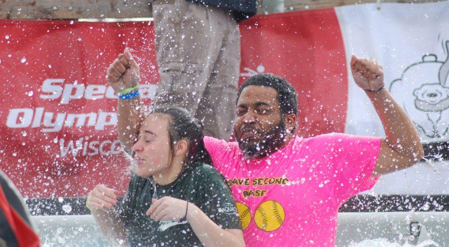 Community plunges for charity