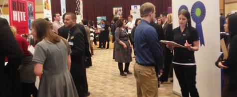 Students meet recruiters at career fair