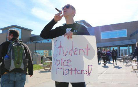 Shared governance demonstration voices student frustration