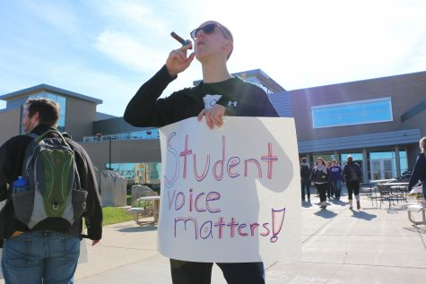 Shared governance demonstration voices student frustration