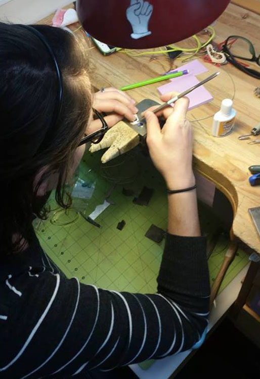 Alloy aligns students for jewelry making