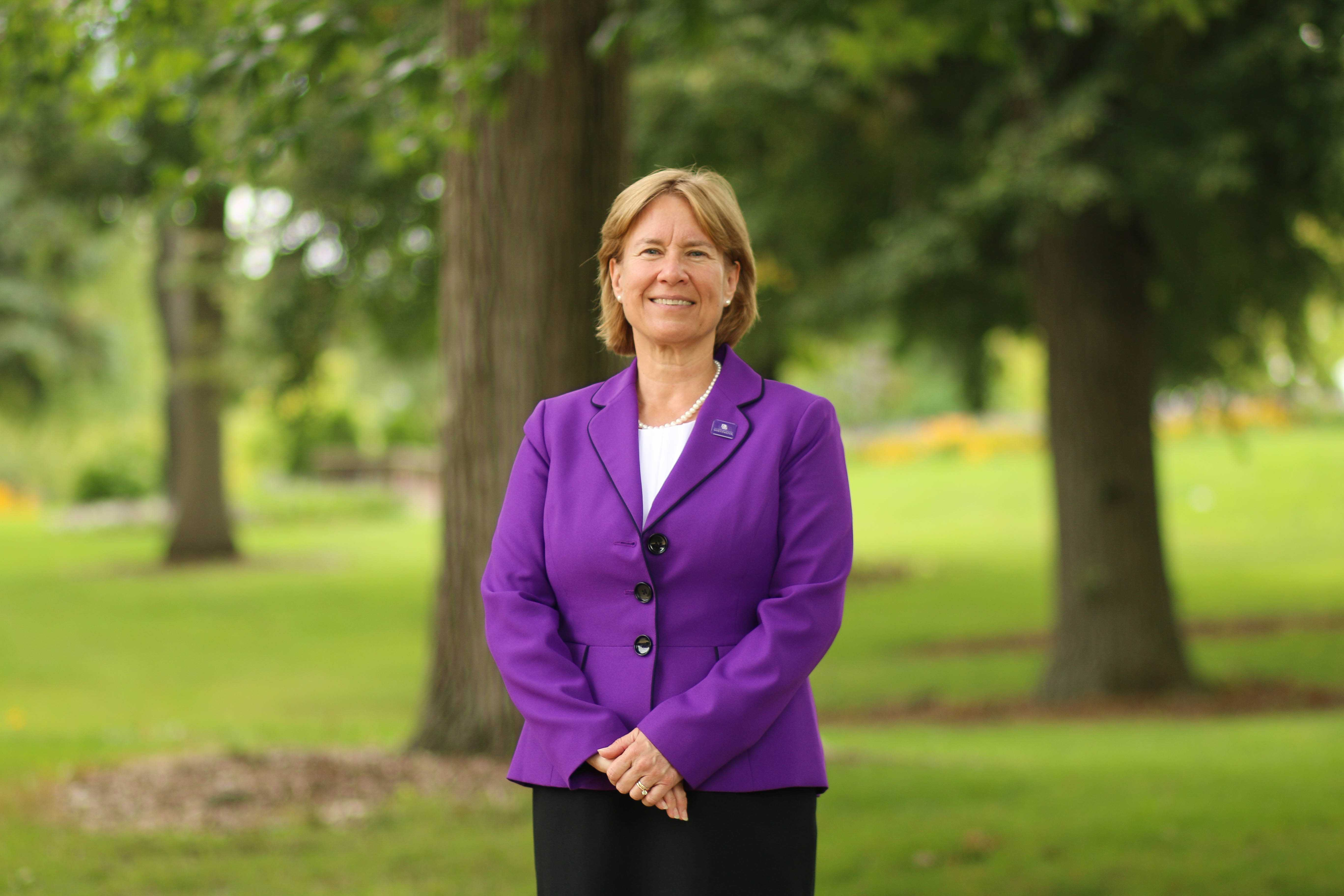 Beverly Kopper, who became UW-Whitewater's 16th Chancellor last summer, has seen both highs and lows for the university in the past year. photo by Kimberly Wethal