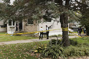 Whitewater Police and Crime Scene Investigation Unit examine the murder of Kenneth J. Myszkewicz on Tues Oct. 25 after receiving a 911 call early Tuesday morning.  photo by Kimberly Wethal