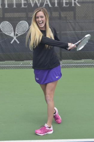 Megan Humphreys has six All-American honors, is a two-time member of the WIAC All-Sportsmanship team, four-time ITA Scholar Athlete and multiple othe honors in her historic career. Photo by Sierra High