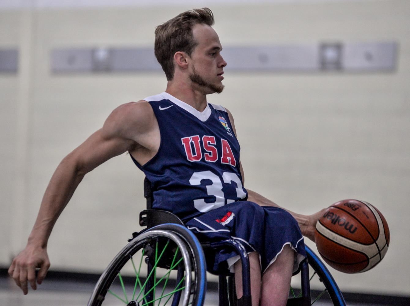 Former Warhawk men's wheelchair basketball player and current UW-W employee John Boie made the most of his summer representing the United States in the 2017 International Wheelchair Basketball Federation America's Qualifier.