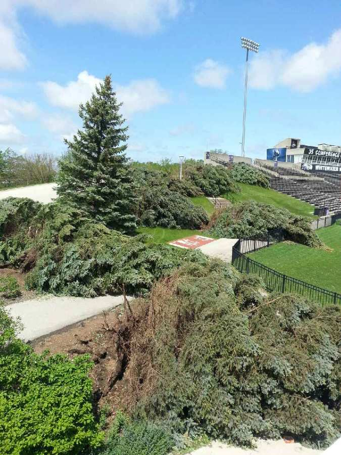 picture of damage from May storm