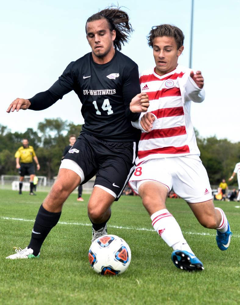 The UW-Whitewater men's soccer team are back on the right track with a 2-0 victory against Saint John's University Oct. 1.