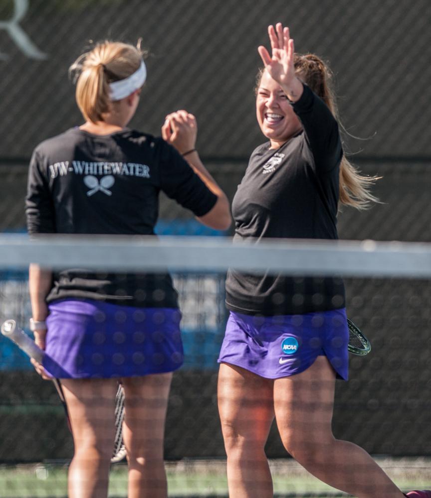 Women's tennis handily defeats UW-Stevens Point Coach Barnes says motivation was key to win