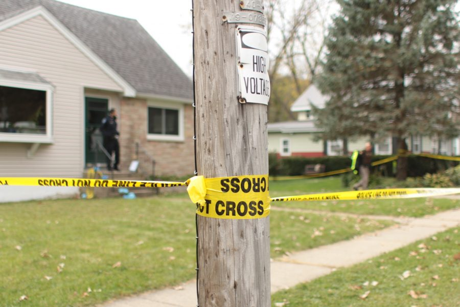 In a 2016 photo, a crime scene where a Whitewater man was killed is taped off by city police.