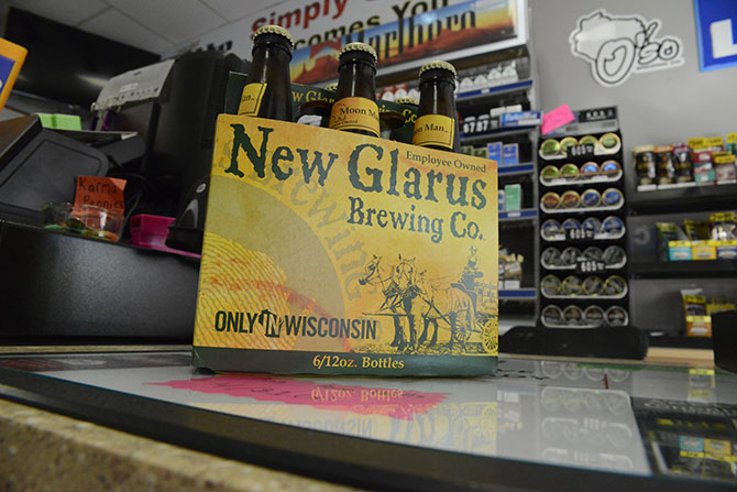 A+pack+of+beer+on+the+counter+at+Simply+Convenient%2C+a+liquor+store+in+Whitewater.+Liquor+stores+need+a+wholesale+license+to+sell+alcohol+in+the+state+of+Wisconsin.