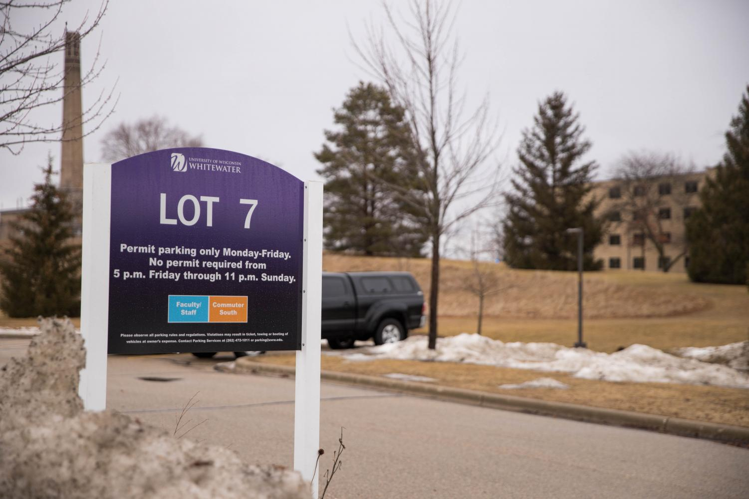 Portions of Lot 7 will be sacrificed to the construction of a new residence hall building on campus as the project progresses. The parking system will be temporarily re-structured.