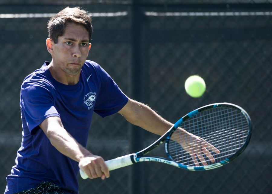Senior Zane Navratil was part of the Warhawks No. 1 doubles pair that defeated Wooster College's pairing of Nathan Devereux and Joaquin Abos Amo. Navratil and junior Jimmy Engelhart won the match 8-4.