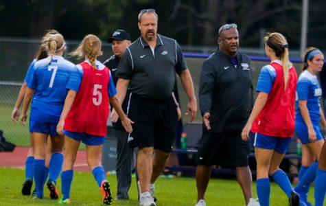 Women's soccer coaches reunite