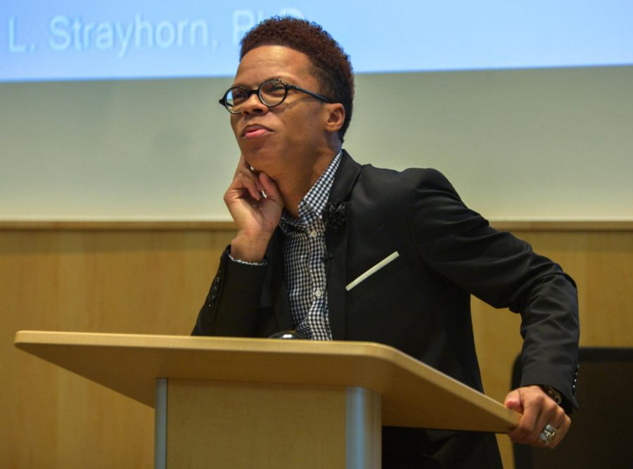 Dr.+Terrell+Strayhorn+visited+the+University+of+Wisconsin-Whitewater+campus+to+speak+to+faculty%2C+staff%2C+and+students+on+promoting+campus+culture+and+a+sense+of+belonging+for+the+upcoming+years.