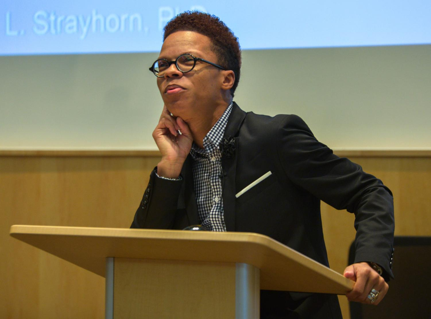 Dr. Terrell Strayhorn visited the University of Wisconsin-Whitewater campus to speak to faculty, staff, and students on promoting campus culture and a sense of belonging for the upcoming years.