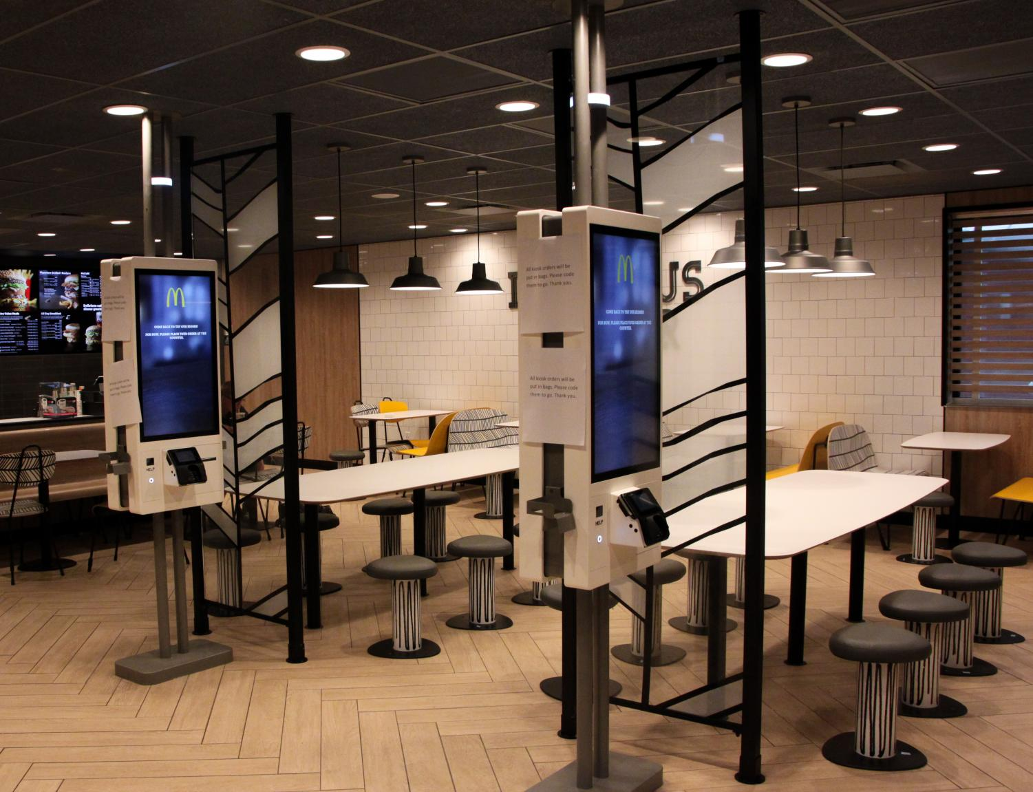 The renovation of the Whitewater McDonald's has added plenty of new seating and kiosks for customers to order food.