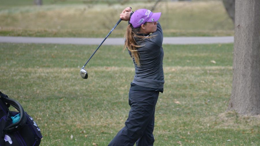 CheyAnn+Knudsen+broke+her+own+36-hole+school+record+at+the+Illinois+Wesleyan+Fall+Classic.+She+set+her+first+record+in+2017+shooting+a+148+through+36+holes%2C+and+beat+that+record+by+one+stroke.+