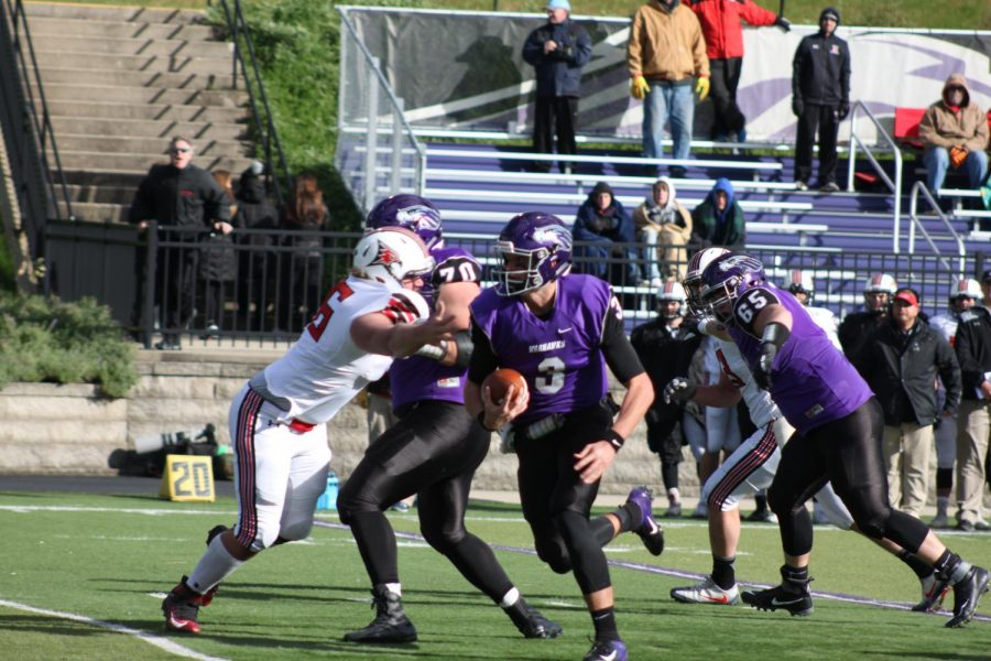 Senior quarterback Cole Wilber threw for two touchdowns and rushed for one in Whitewater's 44-7 victory over UW-River Falls. Wilber has 16 touchdowns compared to just five interceptions this year.