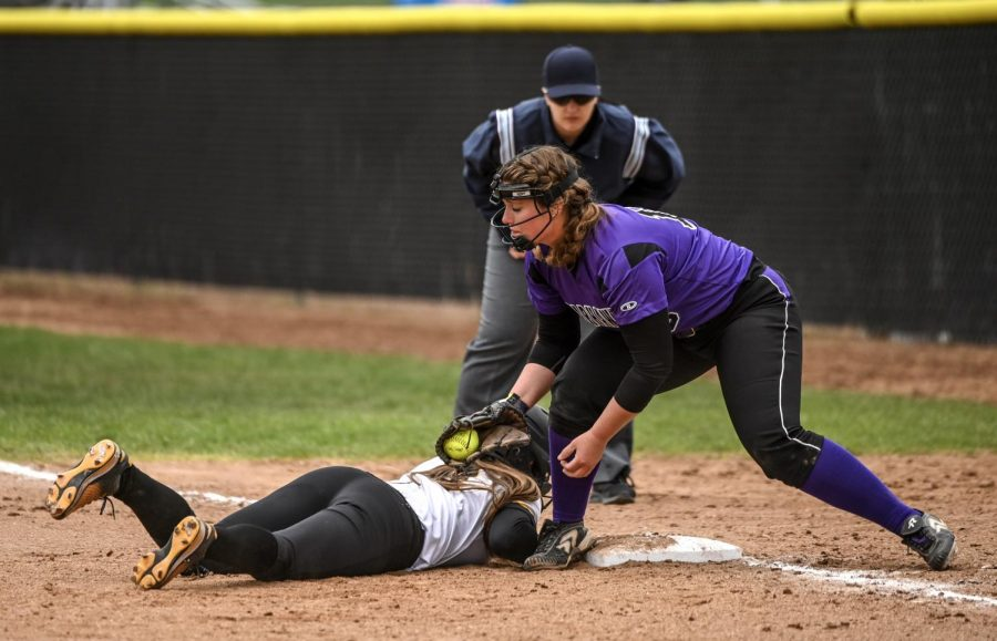 Softball collapses in WIAC tourney