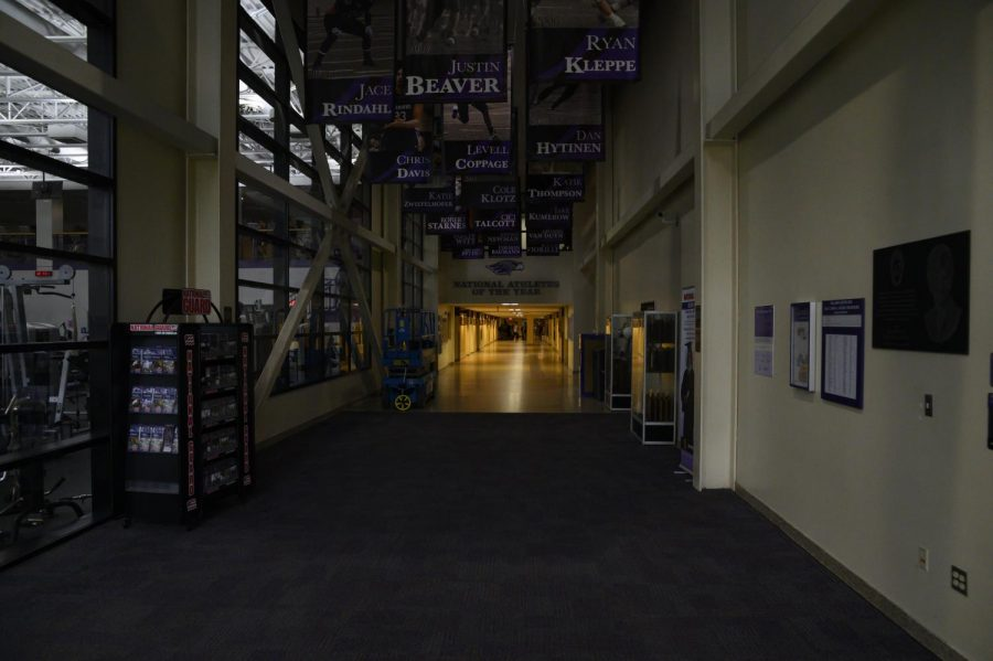 Warhawks all over campus experienced a power  outage on Monday, Aug. 26 due to a tree falling across a power line. The two hour period without electricity disrupted many people all over campus - including the UW-Whitewater Warhawk volleyball team, causing them to end practice early.