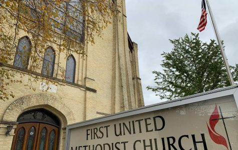 First United Methodist Church in downtown Whitewater hold free lunches for college students every Tuesday. This year marks the 20th year of the lunch program.