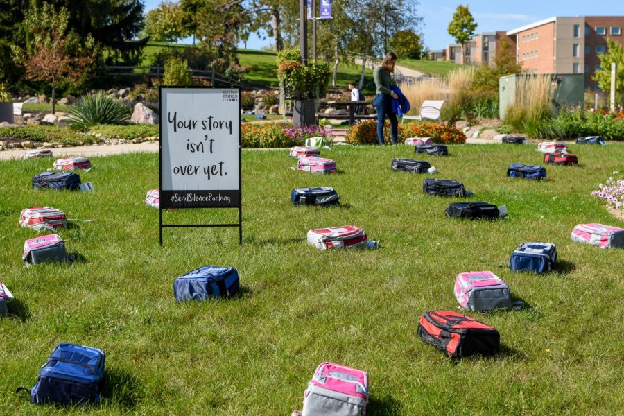 The+backpacks+represented+the+amount+of+students+each+year+who+commit+suicide.