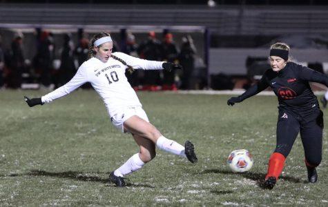 Women's Soccer leads again
