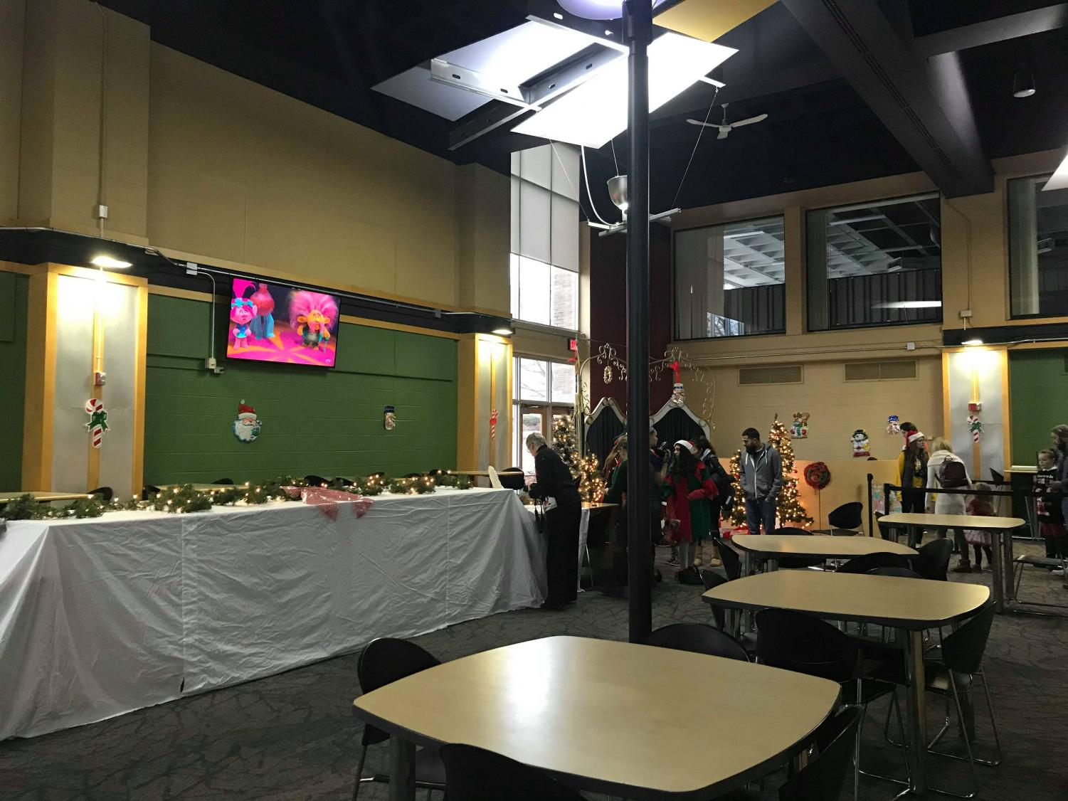 Esker Dining Hall was lined with Christmas decorations and hungry families Saturday, Dec. 7 from 8 a.m. - 10:45 a.m. for the Optimist Breakfast with Santa.