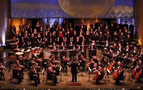 The Concert Choir, Chamber Singers, and Whitewater  Symphony Orchestra all performed together. at the 25th annual Gala Holiday Concert Saturday, Dec. 7.