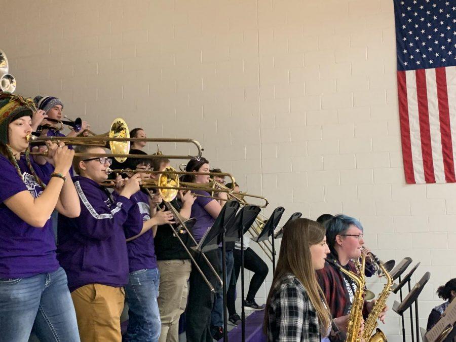 Pep Band gives homecourt edge