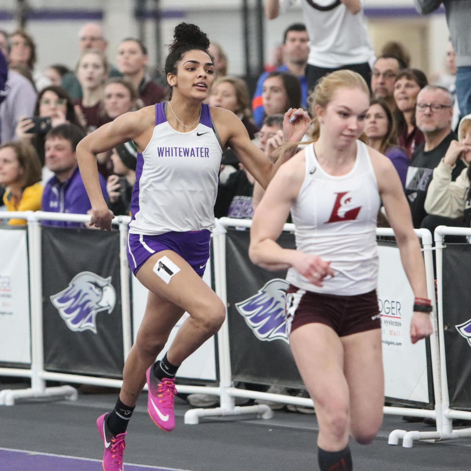 Syndey Rossow raced in three events, including the 60m Hurdles. She took 14th place with a time of 9.59, missing out on finals by 0.43 sec.