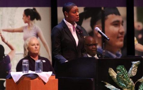 Artanya Wesley addresses the Student Affairs Budget.