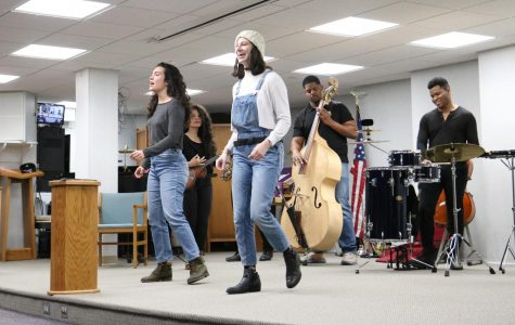 Sara Linares and Mia Wurgaft participate in the American  Shakespeare Center Musical Program