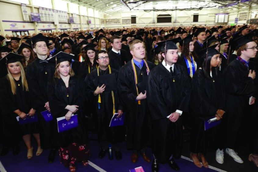 The spring 2020 commencement ceremony planned for May 16, 2020 is postponed as a result of the COVID-19 pandemic. The university is considering alternative options to honor the spring graduates.