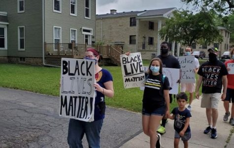 Related photo: The Fight Against Police Brutality-Whitewater group marches in Whitewater on July 7.