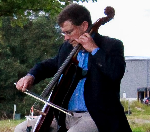 "Music professor Benjamin Whitcomb performs ""Bach Suites for Cello"" by Johann Sebastian Bach at the UW-Whitewater Innovation Center on Friday, Sept. 18."