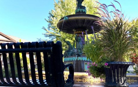 Flat Iron Park Fountain, located right outside of the Whitewater Arts Alliance at 402 W. Main St.. This place is great to sit and enjoy the outdoors, but step inside the Arts Alliance building to see artwork from all different artists.