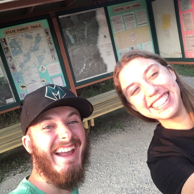 Dan Brever snaps a selfie of himself and Lizzy Farrey Friday, Aug. 7 while participating in the Discover Whitewater Scavenger Hunt.