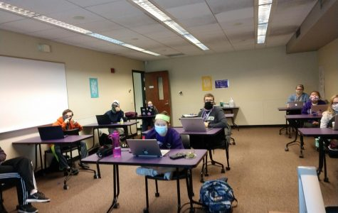 LIFE program students attend class in Winther Hall.