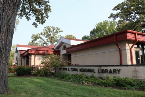 The Irvin L. Young Memorial Library is located at 431 West Center St. in Whitewater Wisconsin.