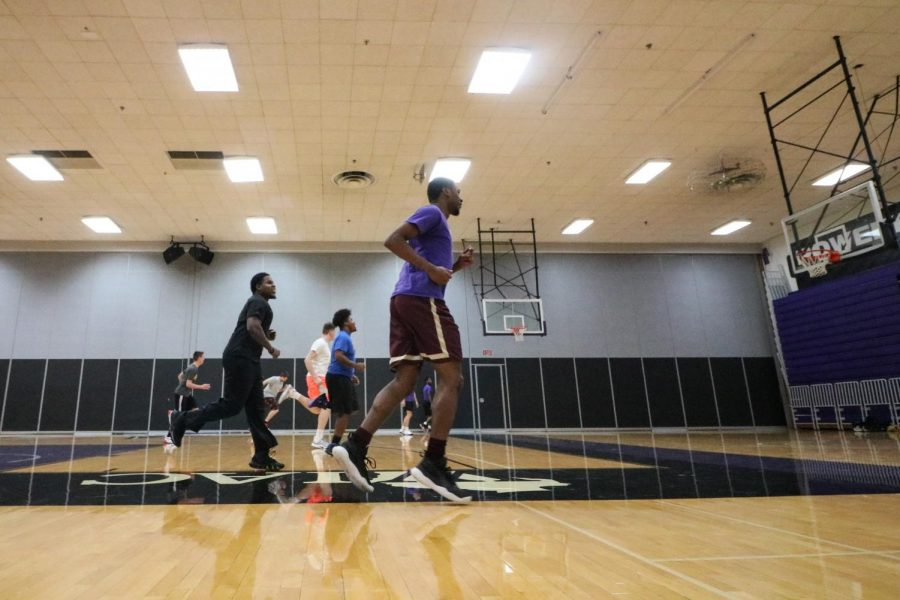 UW-Whitewater Club Basketball Team practice Nov. 2019